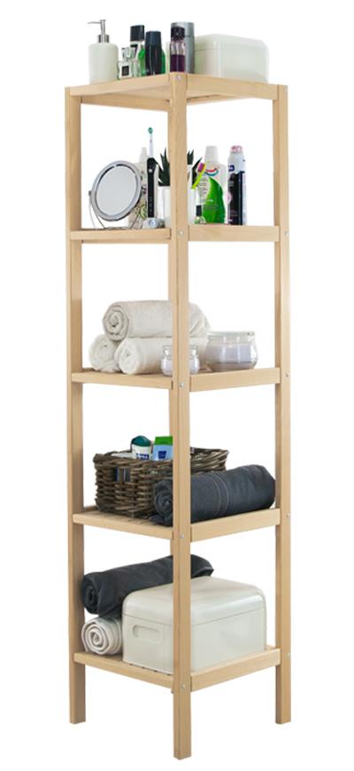 badregal badezimmer standregal k chenregal buchenholz regal 5 b den serie d 5 ebay. Black Bedroom Furniture Sets. Home Design Ideas