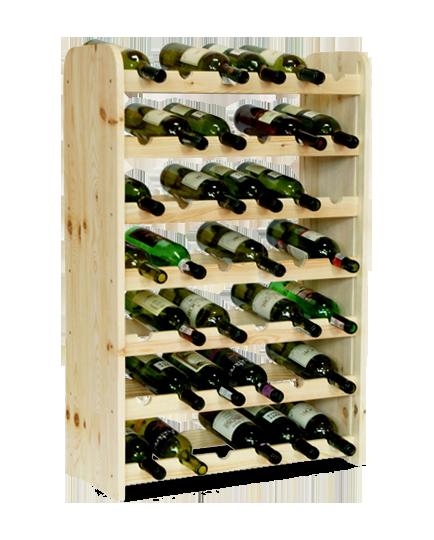Weinregal weinregal holz flaschenregal f r 42 flaschen neu for Flaschenregal selber bauen